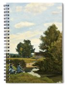 An Afternoon Along The Loing Near Saint-prive Spiral Notebook