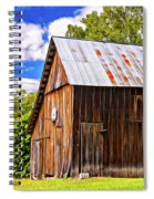 An American Barn 2 Painted Spiral Notebook