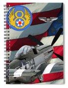 An American P-51d Pof Spiral Notebook