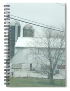 An Amish Barn In April Spiral Notebook