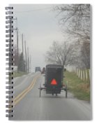 An Amish Buggy In April Spiral Notebook