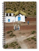 The Ancient Church At  Machuca In The Atacama Desert Spiral Notebook