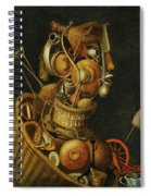 An Anthropomorphic Still Life With Pots Pans Cutlery A Loom And Tools Spiral Notebook