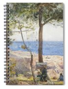 An Artist Painting By The Sea Spiral Notebook