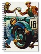 An Aston Martin Racing Car, Vintage 1932 Spiral Notebook