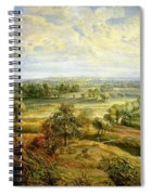 An Autumn Landscape With A View Of Het Steen In The Early Morning Spiral Notebook