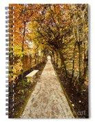 An Autumn Path Spiral Notebook
