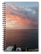 An Early Morning View From A Balcony In Positano, Campania, Ital Spiral Notebook