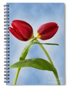 An Embrace Of Tulips Spiral Notebook
