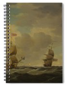 An English Flagship Under Easy Sail In A Moderate Breeze Spiral Notebook