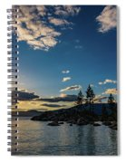 An Evening At The Lake Spiral Notebook