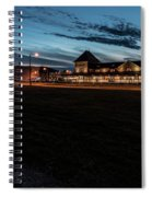 An Evening At The Train Station Spiral Notebook