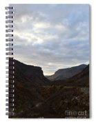 An Evening View Through A Valley In The Southwest Foothills Of The Sierra Nevadas Spiral Notebook
