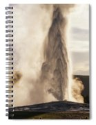 An Evening With Old Faithful Spiral Notebook
