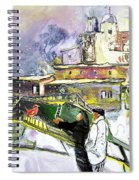 An Exotic Guest In Spain Spiral Notebook