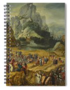 An Extensive Landscape With The Preaching Of Saint John The Baptist And The Baptism Of Christ Spiral Notebook