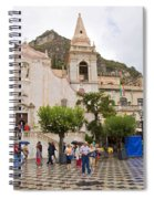 An Iffy Day In Taormina Spiral Notebook
