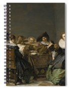 An Interior With Musicians Seated Around A Table  Spiral Notebook