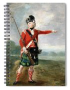 An Officer Of The Light Company Of The 73rd Highlanders Spiral Notebook