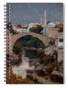 An Old Bridge In Mostar Spiral Notebook