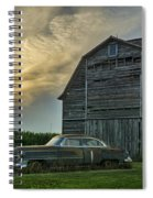 An Old Cadillac By A Barn And Cornfield Spiral Notebook