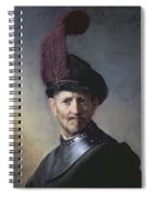 An Old Man In Military Costume Spiral Notebook