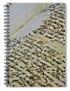 An Old Manuscript Spiral Notebook