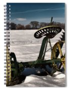 An Old Mower In The Snow Spiral Notebook