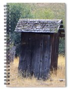 An Old Outhouse  Spiral Notebook
