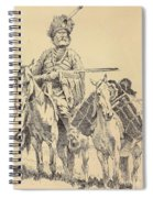 An Old Time Mountain Man With His Ponies Spiral Notebook
