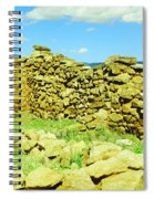An Old Wall At The Pecos Ruins Spiral Notebook