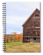 An Old Wooden Barn In Vermont. Spiral Notebook