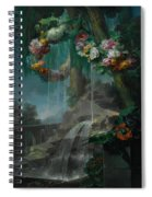 An Outdoor Scene With A Spring Flowing Into A Pool Spiral Notebook