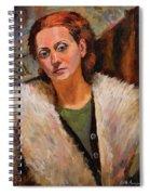 Ana In A Fur Coat Spiral Notebook