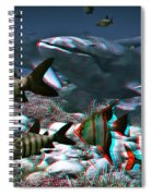 Anaglyph Whales Spiral Notebook