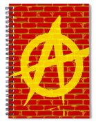 Anarchy Graffiti Red Brick Wall Spiral Notebook