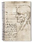Anatomical Drawing By Leonardo Da Vinci Spiral Notebook
