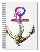 Anchor-colorful Spiral Notebook