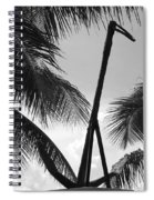 Anchor In Black And White Spiral Notebook