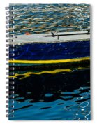 Anchored Boat Spiral Notebook