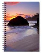 Anchoring The Beach Spiral Notebook