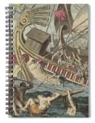 Ancient Greek Sea Battle Spiral Notebook