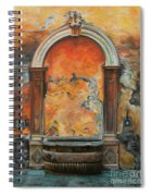 Ancient Italian Fountain Spiral Notebook