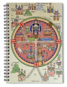 Ancient Map Of Jerusalem And Palestine Spiral Notebook