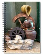 Model Of Ancient Water Mill In Greece  Spiral Notebook