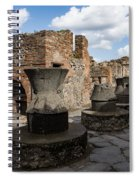 Ancient Pompeii - Bakery Of Modestus Millstones And Bread Oven Spiral Notebook
