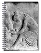Ancient Roman Relief Carving Of Midwife Spiral Notebook