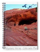 Ancient Ruins Mystery Valley Colorado Plateau Arizona 01 Text Spiral Notebook