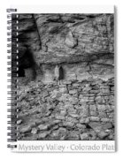 Ancient Ruins Mystery Valley Colorado Plateau Arizona 02 Bw Text Spiral Notebook