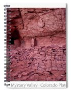 Ancient Ruins Mystery Valley Colorado Plateau Arizona 02 Text Spiral Notebook
